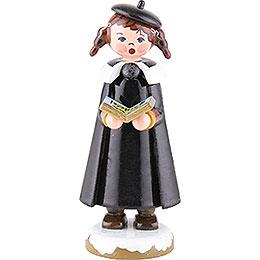 Winterkinder Kurrendemädchen mit Buch und Zöpfen - 8 cm