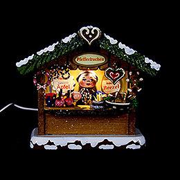Winterkinder Marktbude Pfefferkuchenhäusel - 10 cm