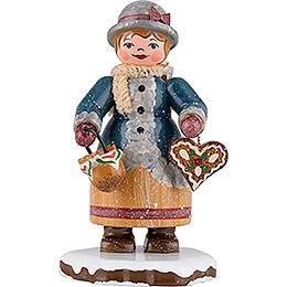 Winterkinder Pfefferküchlerin - 7 cm
