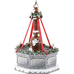 Winterkinder Stadtbrunnen, elektrisch beleuchtet - 12 cm