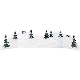 Winterlandschaft Diorama - zw. 100 und 115 cm verstellbar
