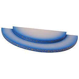 Wolke - 2-stufig - blau - 27x12x2 cm