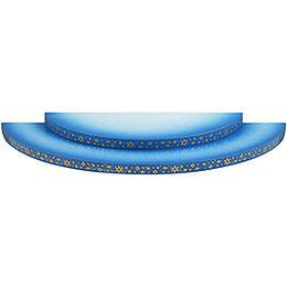 Wolke 2-stufig blau-weiß - 27 cm