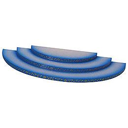 Wolke - 3-stufig - blau - 35x16x3 cm