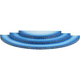 Wolke 3-stufig blau-weiß - 35 cm
