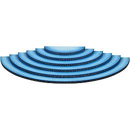 Wolke 6-stufig blau-weiß - 60 cm