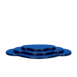 Wolke blau 3tlg. - B 36,5 cm