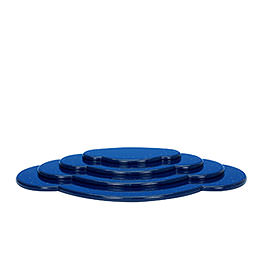 Wolke blau 4tlg. - B 44,5 cm