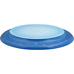 Wolke oval blau-weiß - 21 cm