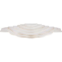 Wolkenstecksystem - Wolkenlandschaft 7-teilig - weiß/gold - 102x38x8 cm