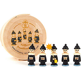 Wood Chip Box with Carolers - 3,5 cm / 1.4 inch