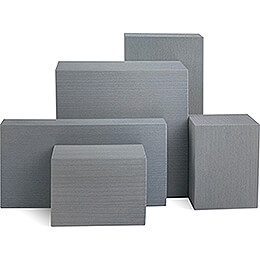 Wooden Block Set - 5 pieces - Grey