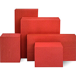 Wooden Block Set - 5 pieces - Red