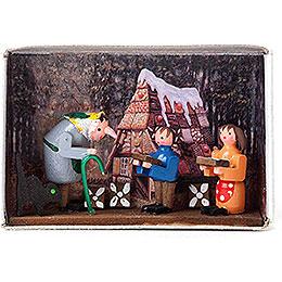 Zündholzschachtel Hänsel und Gretel - 4 cm