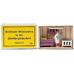 Zündholzschachtel Hebamme - 4 cm