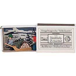 Zündholzschachtel Holzsammler - 3,8 cm