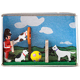 Zündholzschachtel Hundesport - 4 cm