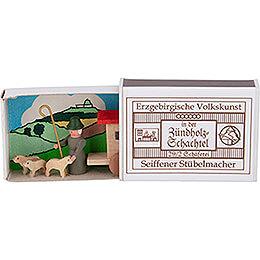 Zündholzschachtel Schäferei - 3,8 cm