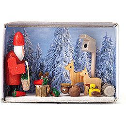 Zündholzschachtel Weihnacht im Winterwald - 4 cm