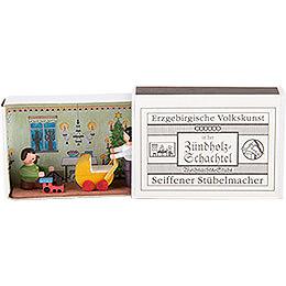 Zündholzschachtel Weihnachtsstube - 3,8 cm