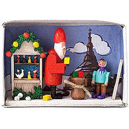 Zündholzschachtel Weihnachtszeit - 4 cm