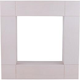 Zierrahmen für Kantenhocker, weiß lasiert - 33x33 cm