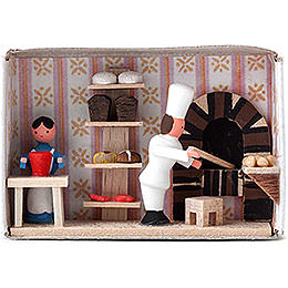 Zündholzschachtel Bäckerei - 4 cm