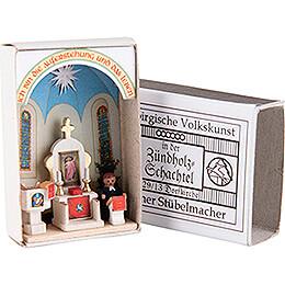 Zündholzschachtel Dorfkirche - 3,8 cm