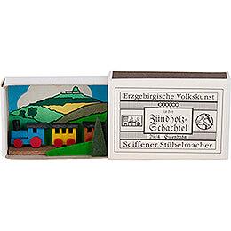 Zündholzschachtel Eisenbahn - 3,8 cm