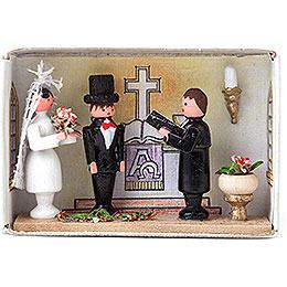 Zündholzschachtel Hochzeit - 4 cm