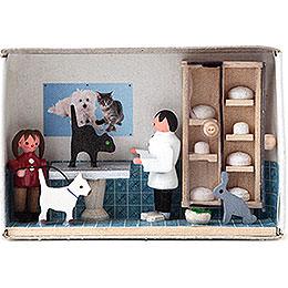 Zündholzschachtel Tierarzt - 4 cm